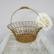 Vintage metal flower girl basket