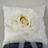 Ring Bearer Pillow - Ivory Satin and Lace