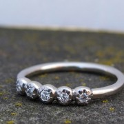 Textured 5 stone ring
