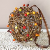 Rustic Grapevine Pomander - Customizable