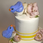 blue bird cake topper