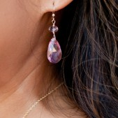 Bridesmaid Swarovski Earrings in Pink