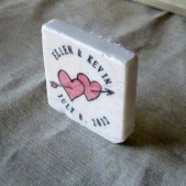 Valentine Heart Wedding Favor Magnets