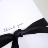 Gray and Yellow Damask Thank You Notes