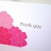 SPring Peonies Thank You Notes