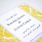 Yellow Damask Save the Date