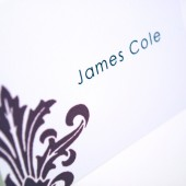 Black Damask Place Card