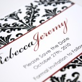 Black Damask Save the Date