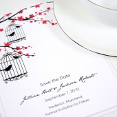 Victorian Birds Save the Date
