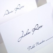 Pure Elegance Place Card