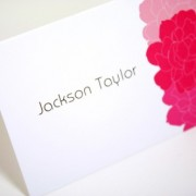 Spring Peonies Place Card
