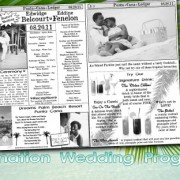 Destination Wedding Program - Mini Newspaper Style