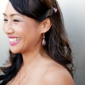 Swarovski Bridesmaid Earrings in Pink and Other Colors