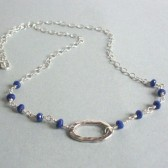 Serenity Lapis and Sterling Silver Necklace