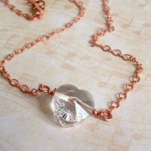 Solitaire Swarovski Crystal and Copper Necklace