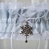 "Wedding Garter ""Aaliyah Snow\"""