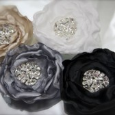 Deco Rhinestone Rose Hair Fascinator In many color choices