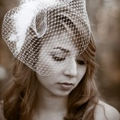 Full Birdcage Veil Vintage Style French Millinery Net Veil