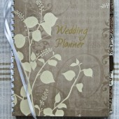 "Personalized Handmade Wedding Planner or Guest Book ""Fall\"""