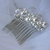 Pearly Crystal Bridal Comb