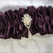 Regal Rhinestone Pearl Drop in Your Choice of Luxe Satin Color