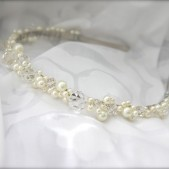 Pearl Crystal Wire Wrapped Tiara Headband