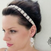 Beautiful and Trendy / Elegant Bridal Headband / Headpiece made with Swarovski Rhinestones by Mauve Binchely