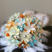 Aqua and Orange Map Page Bouquet