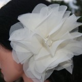 big ivory hair pin flower - INNES