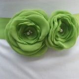 lime green bridal sash