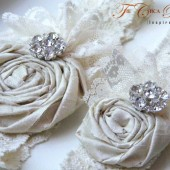 Ruffles and Lace Bridal Garter Set