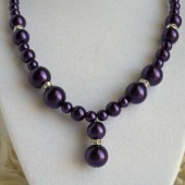 royal purple bridesmaid necklace