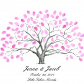 Thumbprint Tree Wedding Guestbook Alternative