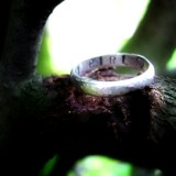 Personalised Hammered Skinny Ring