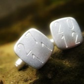 \'Hip to be square\' Cuff links