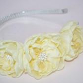 yellow flowers headband