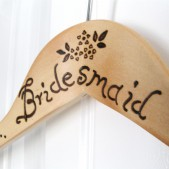 Bridesmaid Wood Burned Hanger