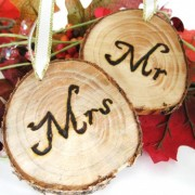 RUSTIC Mr and Mrs Head Table Tags
