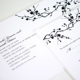 Black and White Blossoms Wedding Suite