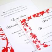 Red Floral Wedding Suite