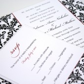 Black Damask Wedding Suite