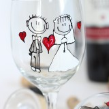 Bride and Groom personalized wine glasses