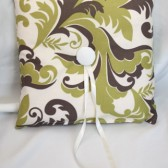 Ivory, Olive & Brown Pillow