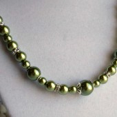Olive Bridesmaid Necklace