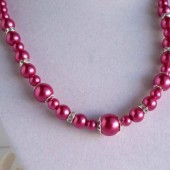 Raspberry Bridesmaid Necklace