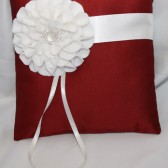 Copper Ring Pillow w/ Ivory Flower Brooch