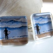 Surfer Cuff Links