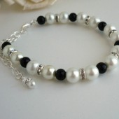 White and Black Bracelet