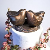 Bronze Colored Cake Topper