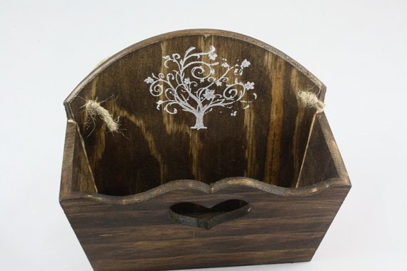 Flower Girl Wooden Basket